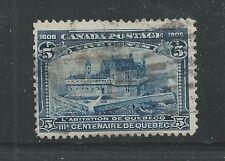 CANADA # 99 Used QUEBEC TERCENTENARY, CHAMPLAIN'S HOME (8220)