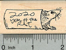 Year of the Rat Rubber Stamp, Chinese New Year, 2020 Version G35324 WM