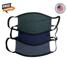 Set Of 3 Adult Fabric Face Mask Made in USA Washable