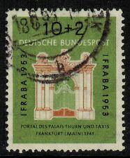 Germany #B333 1953 10pfg+2pfg Palace Gate used F/VF (Sc $22.50 US)