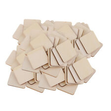 Lots 100 Wooden Coaster Plain Wood Crafts Blank Pieces Unfinished Plaque DIY