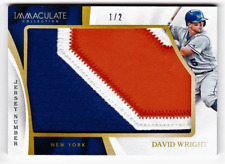 DAVID WRIGHT 2017 IMMACULATE JERSEY NUMBERS SICK UNIFORM NUMBER PATCH #/2 WOW!!