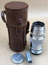 Canon RF 100mm F/4 Serenar Leica SM M39 Lens w/Caps ,Finder & Case #41700