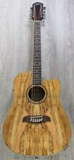 Oscar Schmidt OD312CESM Guitar - Spalted Maple Top 12 String Acoustic Electric
