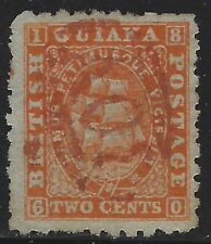 British Guiana 1860 2c Orange Seal of the Colony Sc# 19 used