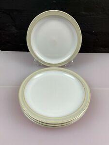 4 x Denby Linen Tea / Side Plates 17.5 cm Wide 1st Quality Set