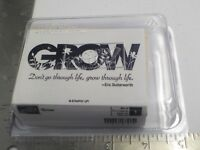 Stampin Up Grow Set of 1 Wood Mounted Rubber Stamps EUC A8357