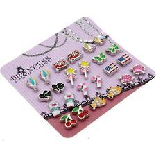 Cute Cartoon Color Enamel Magnetic Clip-on Stud Earrings for Kids girls Women