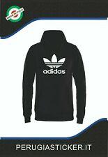 Felpa Nera logo stampato Adidas - felpa con cappuccio e tasca