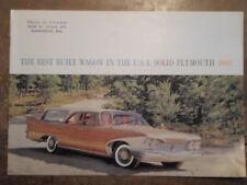 PLYMOUTH STATION WAGONS original 1960 USA Mkt Sales Brochure - Suburban Custom
