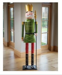 NEW - 6ft Christmas Nutcracker, Soldier, Indoor, Outdoor, Metal, Green