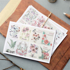Hand-Painted Flower Plants Decorative Adhesive Stickers DIY Decor Diary Pip