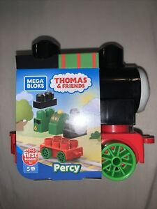 Mega Bloks First Builders Thomas Friends Train Engines PERCY 5pcs NEW Free Ship