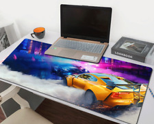 Racing Car Gaming Mouse Pad Large Size Desk Keyboard Mat Soft Thick 31x 11.5''