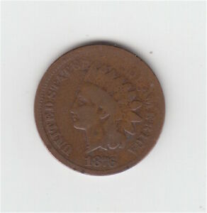 1876 Indian Head Penny // US coin cent 1c