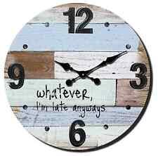 "Extra Large Retro Shabby Chic Wall Clock. 58cm Diameter (22"" +) 7827"