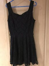 Black Lace Skater Dress BNWT, Size Small