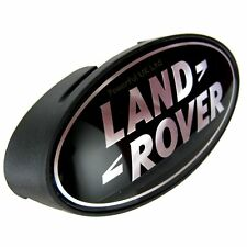 Land Rover Defender black+silver oval front grille badge+support plinth 90 SVX