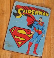 Superman Emblem Comic Book Super Hero Man of Steel Red Cape Metal Poster Sign