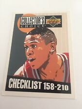 Upper Deck NBA Trading Cards 94 Collectors Choice Checklist 158-210