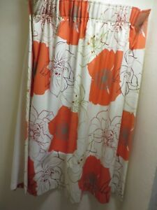"Pair Prestigious design quality curtains lined floral stunning 43""l/51""w floral"