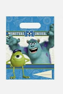 Birthday Party Monsters Inc University Themed Loot Bag Lunch Bags Gift ×6