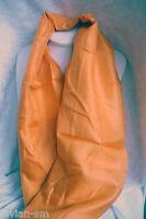 100% Seide Seidentuch 100 x 100 orange Seidenschal Schal Stola Tuch NEU +TOP A50