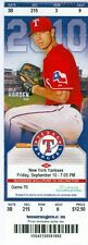 2010 Rangers vs Yankees Ticket: Nelson Cruz 2 HRs includes walk-off HR in 13th