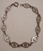Vintage Sterling Silver Bracelet 7 inches length.
