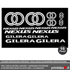FOGLIO ADESIVO SCOOTER GILERA NEXUS 125/300/500 STICKERS ADESIVI BIANCO