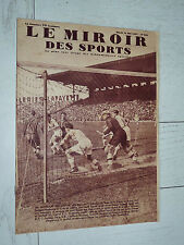 MIROIR SPORTS 1937 N°943 FOOTBALL FINALE COUPE FC SOCHAUX - RC STRASBOURG RUGBY