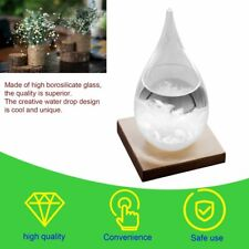 Mini Storm Glass Bottle Weather Forecast Predictor With Wooden Base Home Decor#^