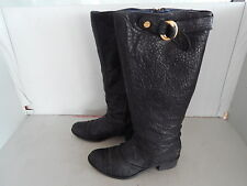 Original Hugo Boss Orange Designer Stiefel  Leder Schwarz Gr. 38 wie 39