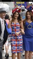 British Flag Union Jack Dress GLAM EVENT PARTY NEW!