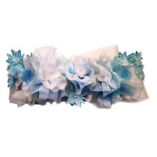 Nwt vera wang bridal wedding sash belt custom dye blue