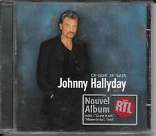 CD ALBUM 14 TITRES--JOHNNY HALLYDAY--CE QUE JE SAIS--1998