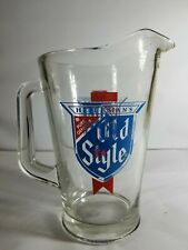 Vintage Heileman's Old Style Pitcher- Heavy Glass
