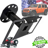 Rear Steel Bracket Spare Tire License Plate Relocation Mount For Jeep Wrangler