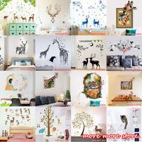 Cartoon Deer Wall Sticker Art Vinyl Home Decor Decal Kids Baby Room Nursery DIY