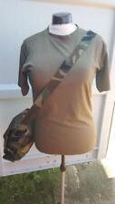 Vintage Military Army Surplus Camouflague Canvas Shoulder Bag Combat Satchel
