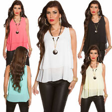 Viscose Party Sleeveless Tops & Shirts for Women