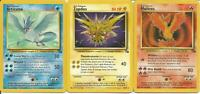 Pokemon TCG Moltress Zapdos Articuno NON HOLO Fossil Set - SAME DAY SHIPPING