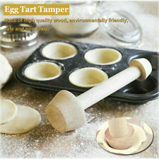 Egg Tart-Tamper Double Side Wooden Pastry Pusher DIY Baking Shaping  Kitchen
