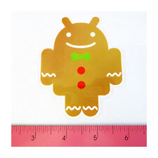 Skateboard Car Window Bumper PVC Decal Sticker - Android Robot Ginger Bread Tie