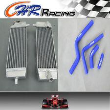 NEW FOR Kawasaki KX 250 F KXF250 KX250F 04 2004 aluminum radiator + blue hose