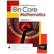 Algebra 1 Worktext Grade 9 (holt Mcdougal Math Oncore)