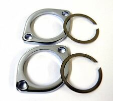 CHROME EXHAUST FLANGE KIT FOR HARLEY 86-16 BIG TWIN SPORTSTER W/ RETAINING RINGS