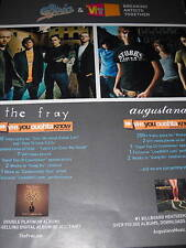 The Fray and Augustana 2007 Promo Poster Ad mint cond.
