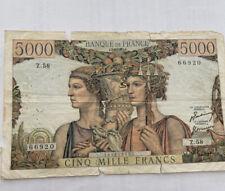 Billet 5000 Francs Terre Et Mer TB