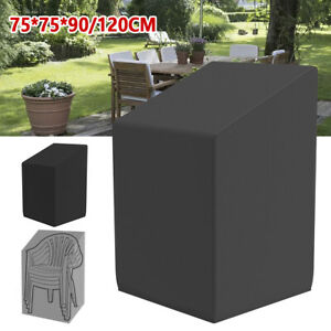 WATERPROOF STACKING CHAIR COVER OUTDOOR GARDEN PATIO FURNITURE CHAIRS UV COVERS